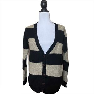 Forever21 Striped Cardigan Wool Blend